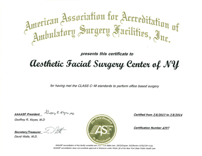 AAAASF Accredited Outpatient Surgical Suite Accredidiation